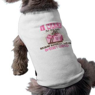 Camino 1 cáncer de pecho playera sin mangas para perro