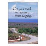 Camino 3646 a la recuperación después de la cirugí tarjetón