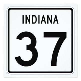 """Camino 37 del estado de Indiana Invitación 5.25"""" X 5.25"""""""