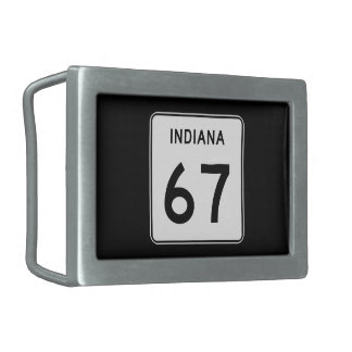 Camino 67, Indiana, los E.E.U.U. del estado Hebillas Cinturon Rectangulares