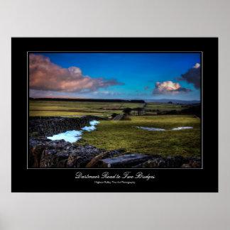Camino a dos puentes - impresión de Dartmoor de la Impresiones