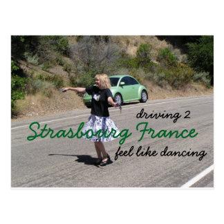 Camino a Estrasburgo Francia Tarjetas Postales