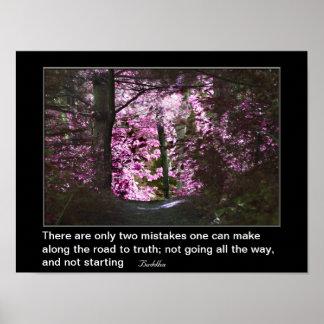 Camino a la cita inspirada de la verdad póster