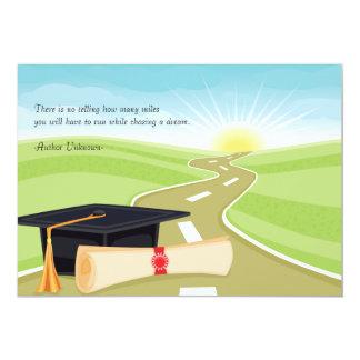 Camino a la invitación de la graduación del éxito