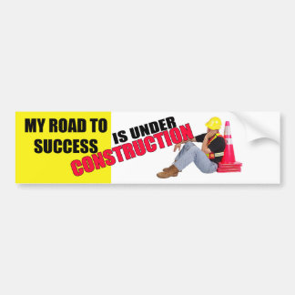Camino a la pegatina para el parachoques del éxito pegatina para auto