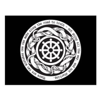 Camino a la rueda de Dharma de la verdad Tarjeta Postal