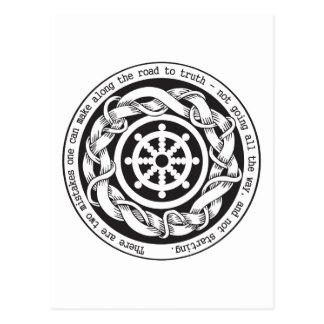 Camino a la rueda de Dharma de la verdad Tarjetas Postales