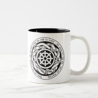 Camino a la rueda de Dharma de la verdad Taza De Café De Dos Colores