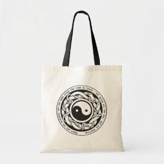 Camino a la verdad Yin Yang Bolsa Lienzo
