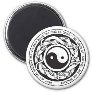 Camino a la verdad Yin Yang Imán Redondo 5 Cm