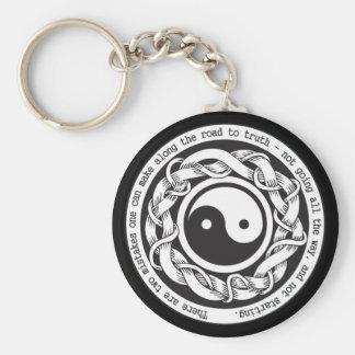 Camino a la verdad Yin Yang Llavero Redondo Tipo Pin