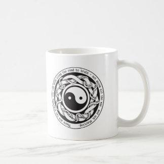 Camino a la verdad Yin Yang Taza De Café