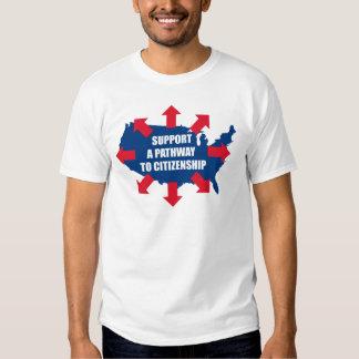 Camino a las camisetas de la ciudadanía camisas