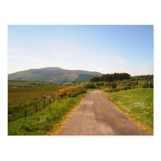 camino al azar en Escocia Tarjetas Postales