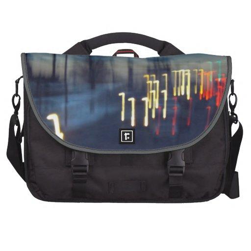 Camino al bolso del viajero de la mañana bolsas de portátil