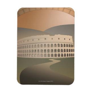 Camino al Colosseum, Roma, Italia Imanes