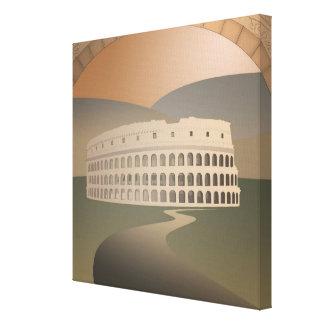 Camino al Colosseum, Roma, Italia Impresión En Tela