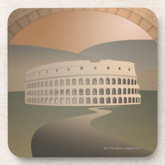 Camino al Colosseum, Roma, Italia Posavasos De Bebidas