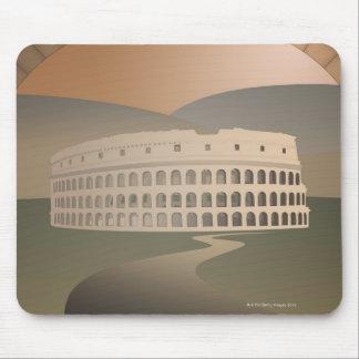 Camino al Colosseum, Roma, Italia Tapetes De Ratón