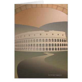 Camino al Colosseum, Roma, Italia Tarjeta De Felicitación