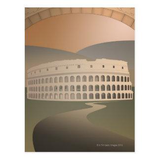 Camino al Colosseum, Roma, Italia Tarjeta Postal