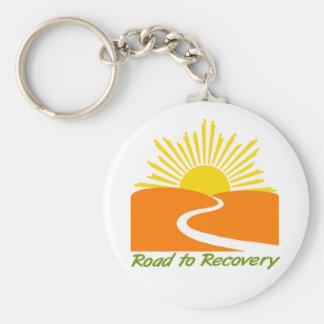 Camino al engranaje de la recuperación llavero redondo tipo pin