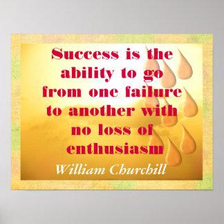Camino al éxito póster
