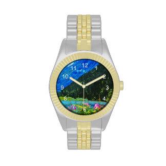 Camino al impresionismo abstracto de Seward Alaska Reloj
