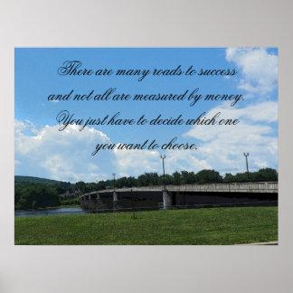 Camino al poster del éxito