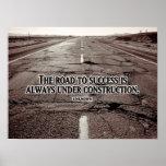 Camino al poster inspirado del éxito