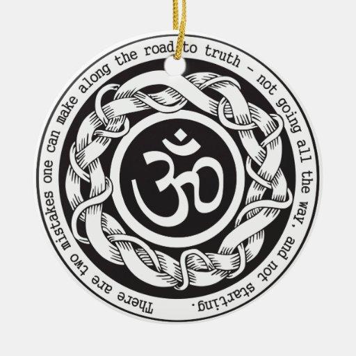 Camino al símbolo de Devanagari OM de la verdad Ornamento Para Arbol De Navidad