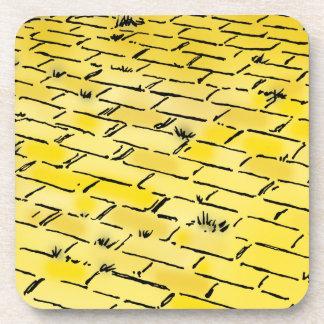 Camino amarillo del ladrillo de mago de Oz del Posavasos De Bebida