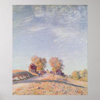 Camino ascendente en la sol, 1891 poster