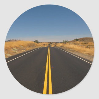 Camino - carretera larga pegatinas redondas