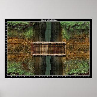 Camino con el puente - poster del mapa de batalla