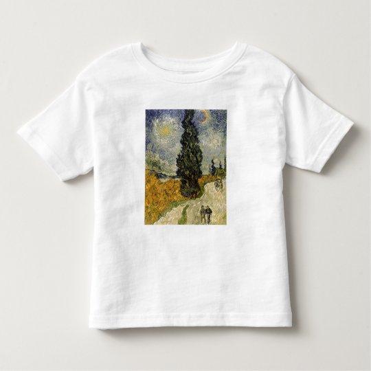 Camino con los cipreses, 1890 de Vincent van Gogh Playera De Bebé