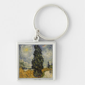 Camino con los cipreses, 1890 llavero personalizado