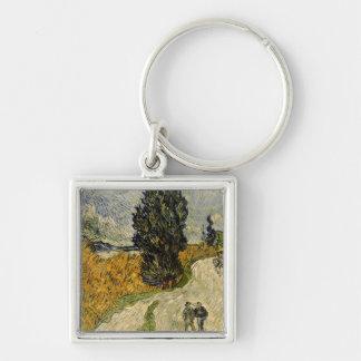 Camino con los cipreses, 1890 llaveros personalizados
