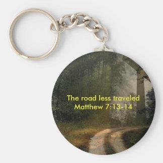 Camino cruzado llavero redondo tipo pin