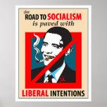 Camino de Barack Obama al poster del socialismo