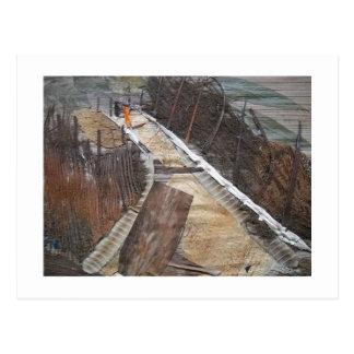 Camino de campo a través postal