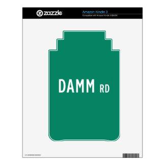 Camino de Damm, placa de calle, indio, los Calcomanías Para Kindle 3