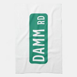 Camino de Damm, placa de calle, indio, los Toalla De Mano