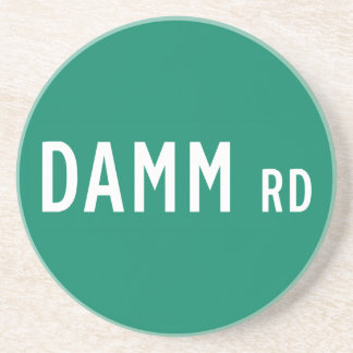 Camino de Damm, placa de calle, indio, los Posavasos Manualidades
