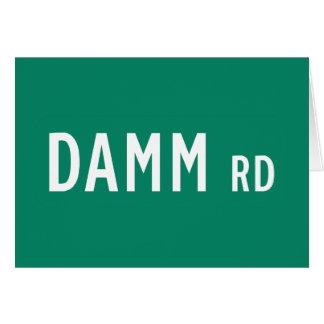 Camino de Damm, placa de calle, indio, los Tarjeta De Felicitación