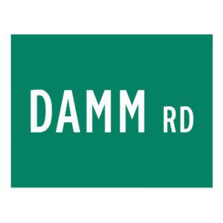 Camino de Damm, placa de calle, indio, los Postal