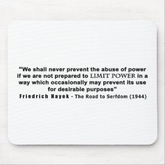 Camino de Friedrich Hayek a la cita del poder del Mouse Pad