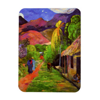 Camino de Gauguin en el imán de Tahití
