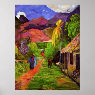 Camino de Gauguin en el poster de Tahití