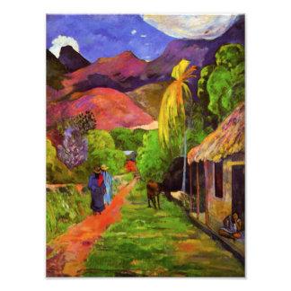 Camino de Gauguin en la impresión de la foto de Ta